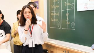 発表をする中国人留学生