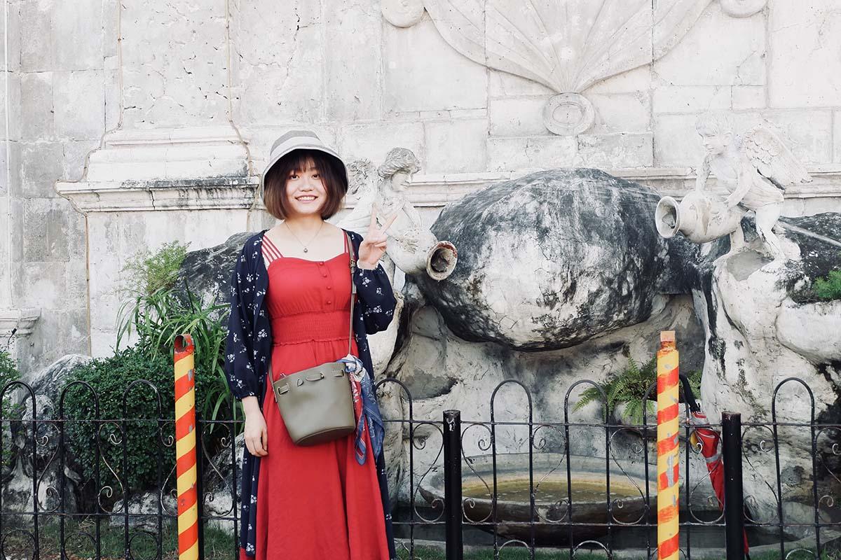 日本で働く中国人女性の旅行中の写真