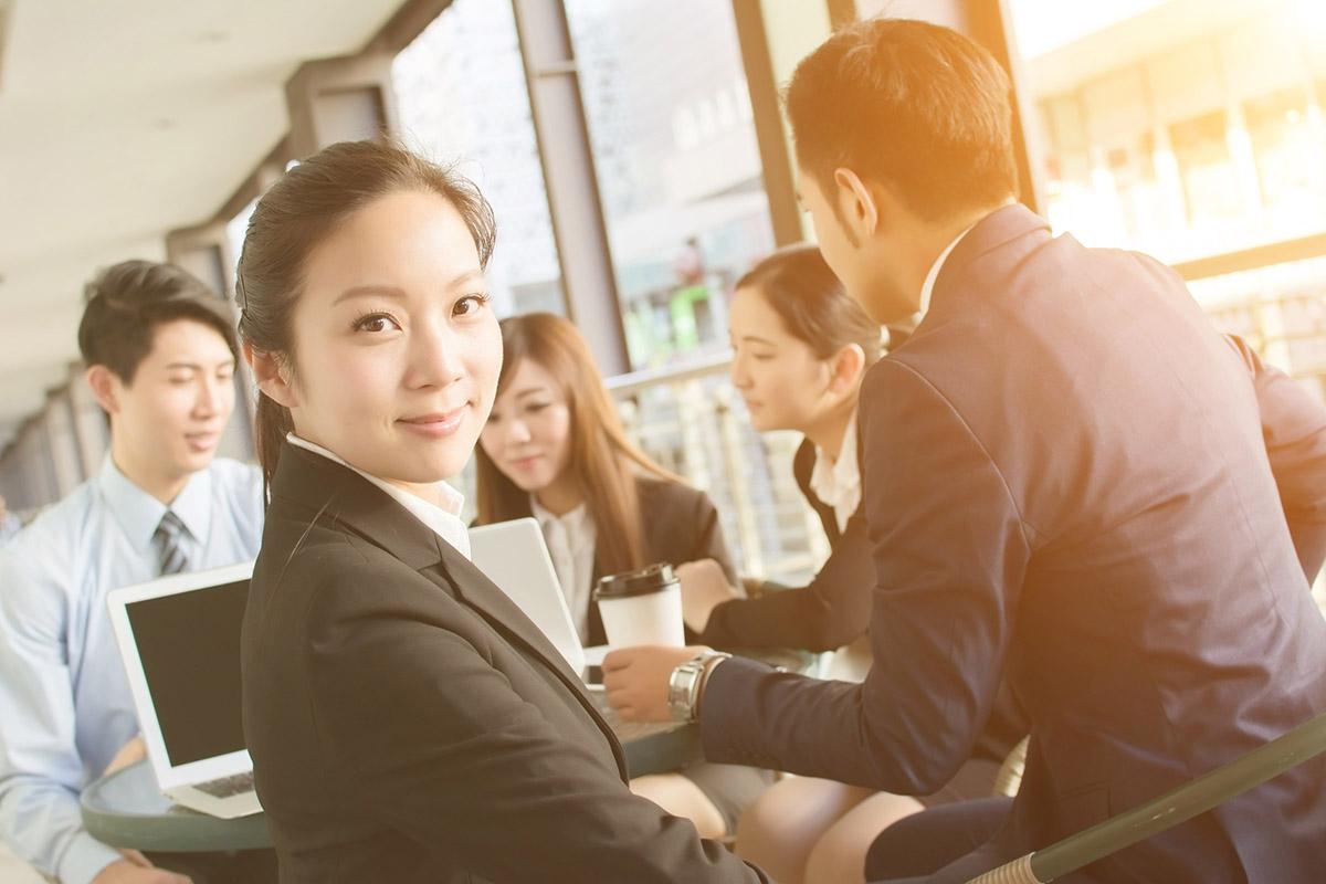 働く台湾人女性